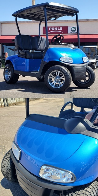 EZGO RXV Elite FreedoM Royal Blue with Ghost Flames